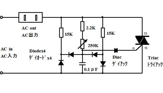 Deskbandsaw for Triac ac motor speed control